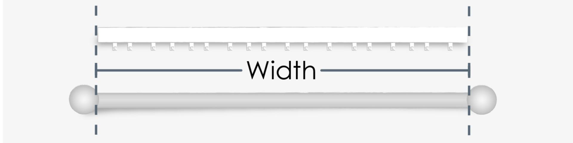 Pole width